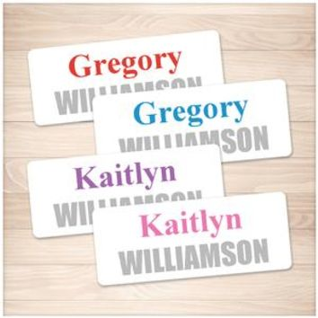 Name Labels for School Supplies on White BUNDLE - Printable