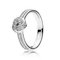 PANDORA Sparkling Love Knot Ring with Clear Cubic Zirconia