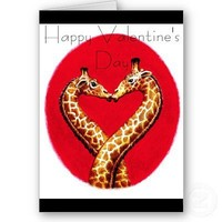 Romantic Giraffe's Greeting Card from Zazzle.com