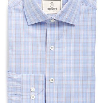 Todd Snyder Trim Fit Plaid Dress Shirt,