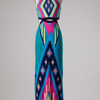 Vacay Getaway Maxi Dress - Turquoise