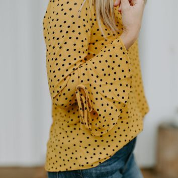 Felicity Dotted Blouse