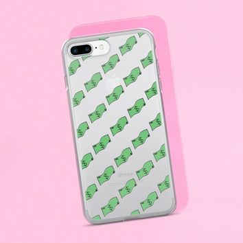 Dollar Bill Clear iPhone Case