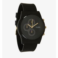 Flud - The Pantone Chrono Watch in Black / Gold