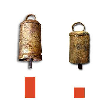 Six 4 inches high Tin Bells with Metal Striker Wedding Patio Church Bell