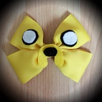 Adventure Time Jake the Dog Character Inspired Yellow Hair Bow