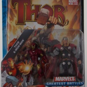 Marvel Universe Thor Iron Man Greatest Battles Comic Book Packs Hasbro Figurine