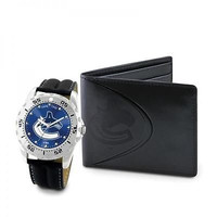 NHL Vancouver Canucks Men's Watch and Wallet Gift Set
