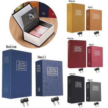 Security Simulation Dictionary Book Secret Safe Storage Box With Key Lock