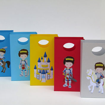 12 Fairytale Prince  Party Favor Bag - Prince Treat Bag - Prince Boys Birthday Party - Prince Goody/Gift Bag - Prince Classroom Favor Bag