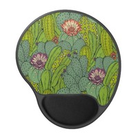 Cactus Flower Pattern Gel Mouse Pad