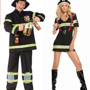DCCKH6B 2016 Hot sale adult Halloween costume movie costumes fireman sam cosplay costume carnival costume