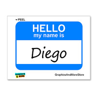 Diego Hello My Name Is Sticker