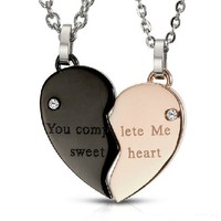 Heart Shape Necklaces Valentine Gifts for Couples