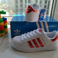 """Adidas Superstar"" Fashion Casual Small White Shoes Women Shell Head Plate Shoes Sneakers"