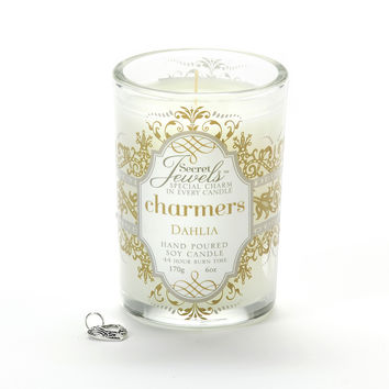 Secret Jewels Charmers Scented Candle, Dahlia