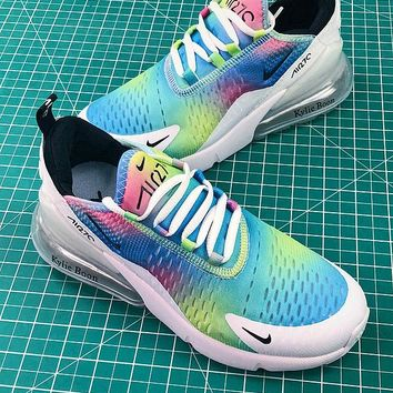 Nike Air Max 270 Rainbow White Women Sport Running Shoes - Best Online Sale