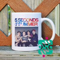 5 Seconds of Summer Band Coffee Mug, Ceramic Mug, Unique Coffee Mug Gift Coffee