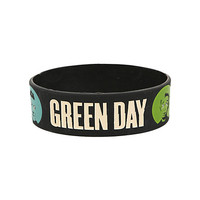 Green Day Face Dot Rubber Bracelet