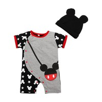 Hot Sale Cartoon Baby Romper Body Suits Cotton Short Sleeve Character Cartoon One Piece Baby Romper For 0-2T BEIB892