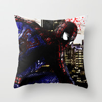 Spiderman in London Close up Throw Pillow by D77 The DigArtisT
