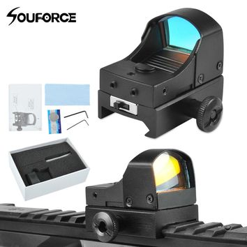 High Quality Tactical Mini Red Dot Sight Compact Holographic Reflex Micro Red Dot Sight Scope Rifle&Pistol for Airsoft