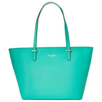 Kate Spade PXRU4545-383 Women's Cedar Street Small Harmony Bright Beryl Leather Tote