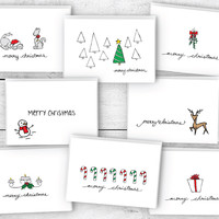 Merry Christmas Greeting Cards Collection