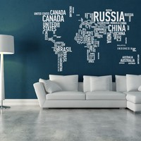 Crearreda CR-57110 World Map XL Wall Decal