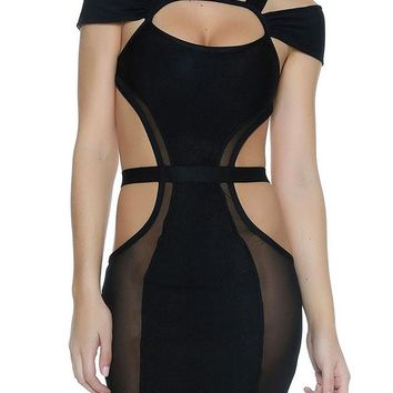 Cut out Bandage Design Little Black Dress