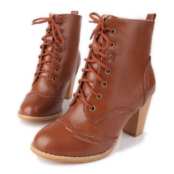 Lace Up Ankle Boots Womens