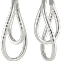 Sterling Silver Double Twist Oval Earrings