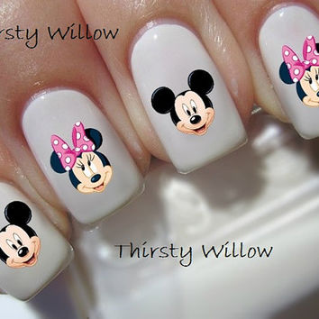 Disney Mickey And Minnie Mouse Nail Decals