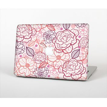 The Subtle Pink Floral Illustration Skin Set for the Apple MacBook Air 13""