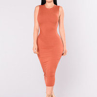 Kimmy Dress - Rust