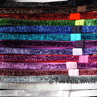 Sparkling Glitter Soft Stretch Headbands Your by twolittlewrens
