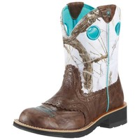 Ariat Women's Fatbaby Cowgirl Boots - Brown Crinkle - 10009503