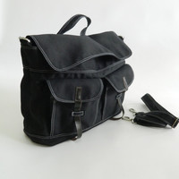 SALE - Mackenzie in Black // Satchel / Messenger / Laptop / Diaper bag / Tote / Handbag / For Him / For Her / Women