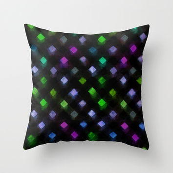Awash in the Dark Throw Pillow by MidnightCoffee