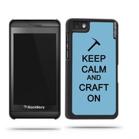 Keep Calm And Craft On Aqua Blackberry Z10 Case - For Blackberry Z10