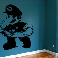 Mario Wall Decal Nintendo Luigi Video Game Mural Wall Art Gamer Decor Mario Decal Video game gifts
