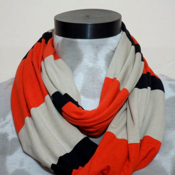 CYBER MONDAY SALE-Men infinity scarf,striped scarves,Infinity Scarf, Loop Scarf, Circle Scarf, textile Black Scarf, Cowl Scarf,
