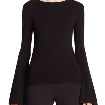 Elizabeth and James - Willow Bell Sleeve Ribbed Top