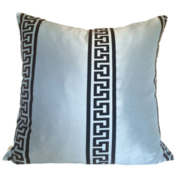 GreekClass Decorative Pillow Covers Collection Blue, Square Set of 2.