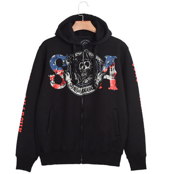 Hip-hop Style Print Stylish Hoodies [6541438403]