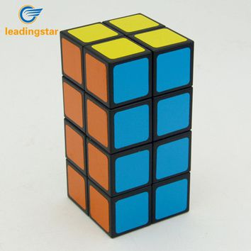LeadingStar  Cuboid Magic Cube PVC Sticker Brain Teaser Puzzle Toy Competition Speed Cube for All Ages zk35
