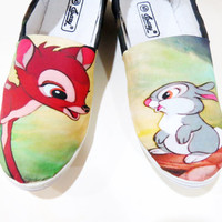 Disney Bambi Shoes (Woodland Critter, Bunny, Kawaii) Men, Women, Kids, Youth, Girl