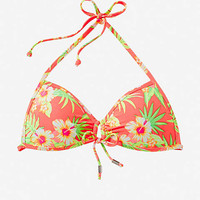 PUSH-UP TRIANGLE BIKINI TOP - FLORAL from EXPRESS