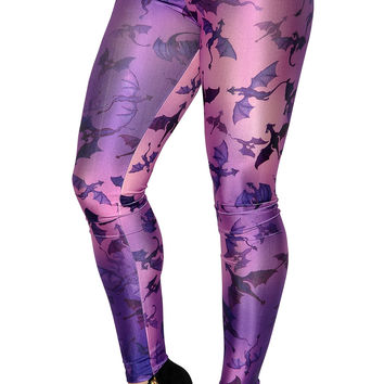 Purple Dragons Leggings Design 276