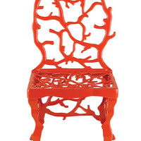 Corail Accent Chair in Red design by Currey & Company